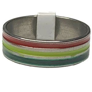 Multicolor Stripe Fashion Ring size 11.5